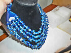 "beautifully crafted,blue,smooth,long Agate necklace 24"" long"