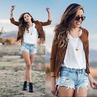 New Womens Tassel Outwear Jacket  Blazer Overcoat Windbreake Coat winter Casual