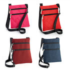 MESSENGER STYLE CROSS SHOULDER HIP BAG PLAIN BLACK BRIGHT NEONS FESTIVAL HOLIDAY