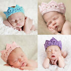 Infant Baby Girl Boy Toddler Knitted Soft Crown Headband Headwear Hair Band AUJR
