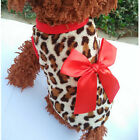 1 Pcs Adorable Leopard Dog Hoodie Coat Soft Cozy Pet Clothes Costumes Gift