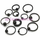 8G 14G 16G 18G  9/16'' 3/8'' Titanium Anodized  Captive Ring 4mm 5mm 6mm Ball