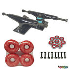 Pro Skateboard Trucks KIT Set blank Wheel Bearings Hardware full 5.25 Black