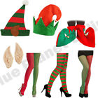 LADIES WOMENS MENS SANTAS HELPER ELF FANCY DRESS SANTA CHRISTMAS XMAS ACCESSORY