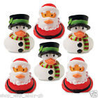 6 Rubber Ducks Christmas Duck Secret Santa Stocking Filler Reindeer Snowman Xmas