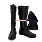 Star Wars 7 The Force Awakens Sith Ben Solo Kylo Ren Shoes Boots Cosplay Costume $40.5 USD