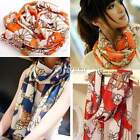 New Lady Long Scarf Women Soft Silk Chiffon Wheel Scarves Wraps Shawl Casual