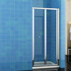 700/760/800/900/1000mm Bifold Shower Door Enclosure Glass Screen Stone Tray