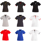 WOMENS LADIES POLY COTTON PIQUE SHORT SLEEVE POLO BLACK WHITE GREY NAVY T-SHIRT
