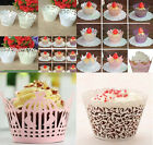 12 Pcs iridescent paper Cupcake Wrappers Case Wedding Birthday Decor For Cake