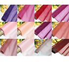 By Meters ECO 100% Pure Silk Organza Red Pink Purple Bridal Dress Material