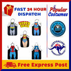 Superhero Print BBQ Chef Cooking Apron Fun Party Comic Kids and Adults Costume