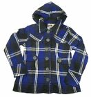Junior Women's Cotton Hoodie Jacket Self Esteem Button Front Coat Ultra Blue