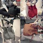 NEW Vintage Women's Shoulder Bag PU Leather Drawstring Tassel Crossbody Bag WU5N