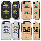 HEAD CASE DESIGNS MOUSTACHE 2 BLACK CHROME GLITTER CASE FOR BLACKBERRY PHONES