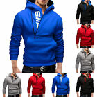 Mens Slim Warm Casual Hooded Top Hoody Fleece Sweatshirt Jacket Coat Sweater New