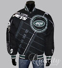New York Jets Jacket Cotton Twill Official NFL Black On Point Scope $159