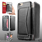 Luxury Business Black Card Flip Soft Leather Case Cover for iPhone 5 6 6S Plus
