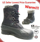 Men's Black Winter Snow Boots Shoes Warm Lined Thermolite Waterproof 10  2006