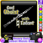 Oboe Cool Player With Natural Talent - Sheet Music & Accessories Bag MusicaliTee