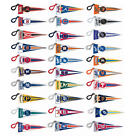 2 NEW MLB MINI FABRIC PENNANT BACKPACK CLIPS OFFICIALLY LICENSED  YOU PICK TEAM