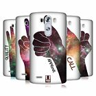 HEAD CASE DESIGNS HAND GESTURE NEBULA HARD BACK CASE FOR LG PHONES 1