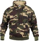 Mens Woodland Camouflage Pullover Sweatshirt