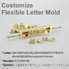Custom Leather Flexible Interchangeable Letters Stamp Mold for Hot Foil Stamping
