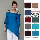 OH MY GAUZE Cotton PILAR Off-Shoulder Tunic Top 1(S/M) 2(L/XL)  2014 DISC COLORS