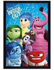 Inside Out Black Wooden Framed Joy, Sadness, Disgust, Fear, Anger Poster