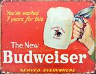 Budweiser The New Budweiser Red Tin Sign 42x30cm