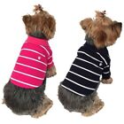 Hot Pet Puppy Dog Clothes T Shirt Tee Colorful Stripe Striped Polo Apparel