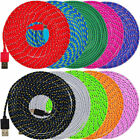 1/2/3 M Nylon Braided Micro USB Cable Charging Sync Data Cable For Android Phone