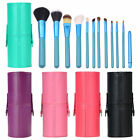 Pro Makeup Brush Set 12 pcs Kit Leather Cup Holder Case Cosmetic Make Up Tool