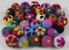 20mm (2cm) Flower 100% Wool Felt Balls Handmade