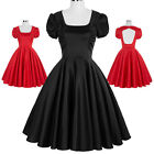 Women 50's Vintage Swing Pinup Housewife Dance Evening Party Dress