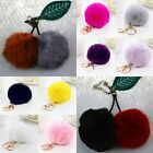 Fashion Rabbit Fur Ball PomPom Car Cell Phone Keychain Handbag Charm Key Ring
