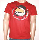 T-shirt Diesel Mens Broila Red cotton crew neck graphic S Sleeve S & XL