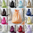 240 pcs 5x7 inch SATIN FAVOR BAGS - Shiny Wedding Drawstring Gift Large Pouches