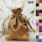 180 pcs 3x3.5 inch SATIN FAVOR BAGS - Wedding Drawstring Gift Pouches Packaging