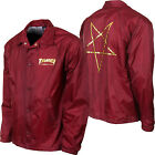 "New THRASHER Skateboard Magazine ""Pentagram"" Windbreaker Coach Jacket (Maroon)"