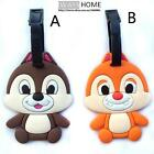 Chip N Dale Disney KIDs Travel Luggage Tag School Bag Silicone Cartoon Game NEW