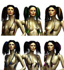 Ladies Japanese Style Wasabi Wig Gothic Vamp Rock Chick Colour Braids Fancy Dres