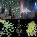 100pcs Home Wall Light Green Glow In The Dark Star Stickers Decal Baby Kids Room