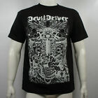 Authentic DEVIL DRIVER Band Delusional Haze Skulls and Bombs T-Shirt S-3XL NEW