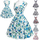 New Women Vintage Rockabilly Floral Retro Swing Jive 50s pinup Housewife Dress