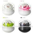 Lotus Flower Home Decor Toothpick Cotton Bud Swab Holder Storage Cup Case Box