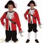 Boys Pirate Captain Fairytale Fancy Dress Costume Book Week Outfit + Hook + Hat