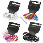 24pc GIRLS SMALL 3cm HAIR ELASTICS THIN BANDS BOBBLES PONY/PIG TAILS HAIRBANDS