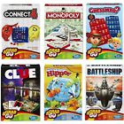 Hasbro Classic Travel Board Games Connect 4 Monopoly Battleship Cluedo Guess Who